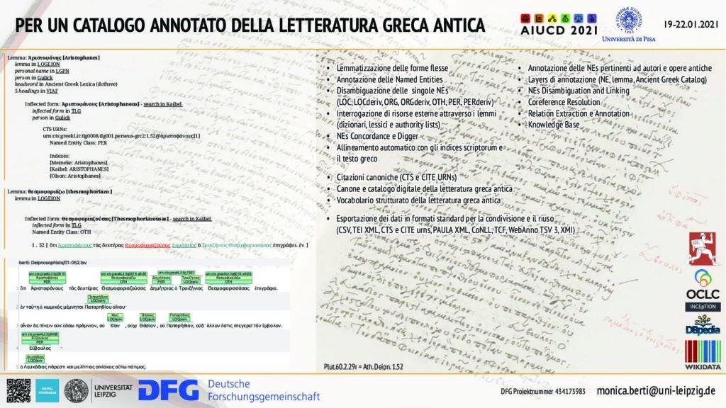 Monica Berti - Per un catalogo annotato della letteratura greca antica