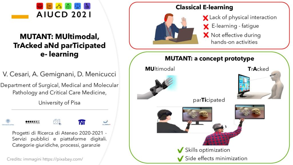 Valentina Cesari, Angelo Gemignani and Danilo Menicucci - MUTANT: MUltimodAl, TrAcked aNd parTecipated e-learning