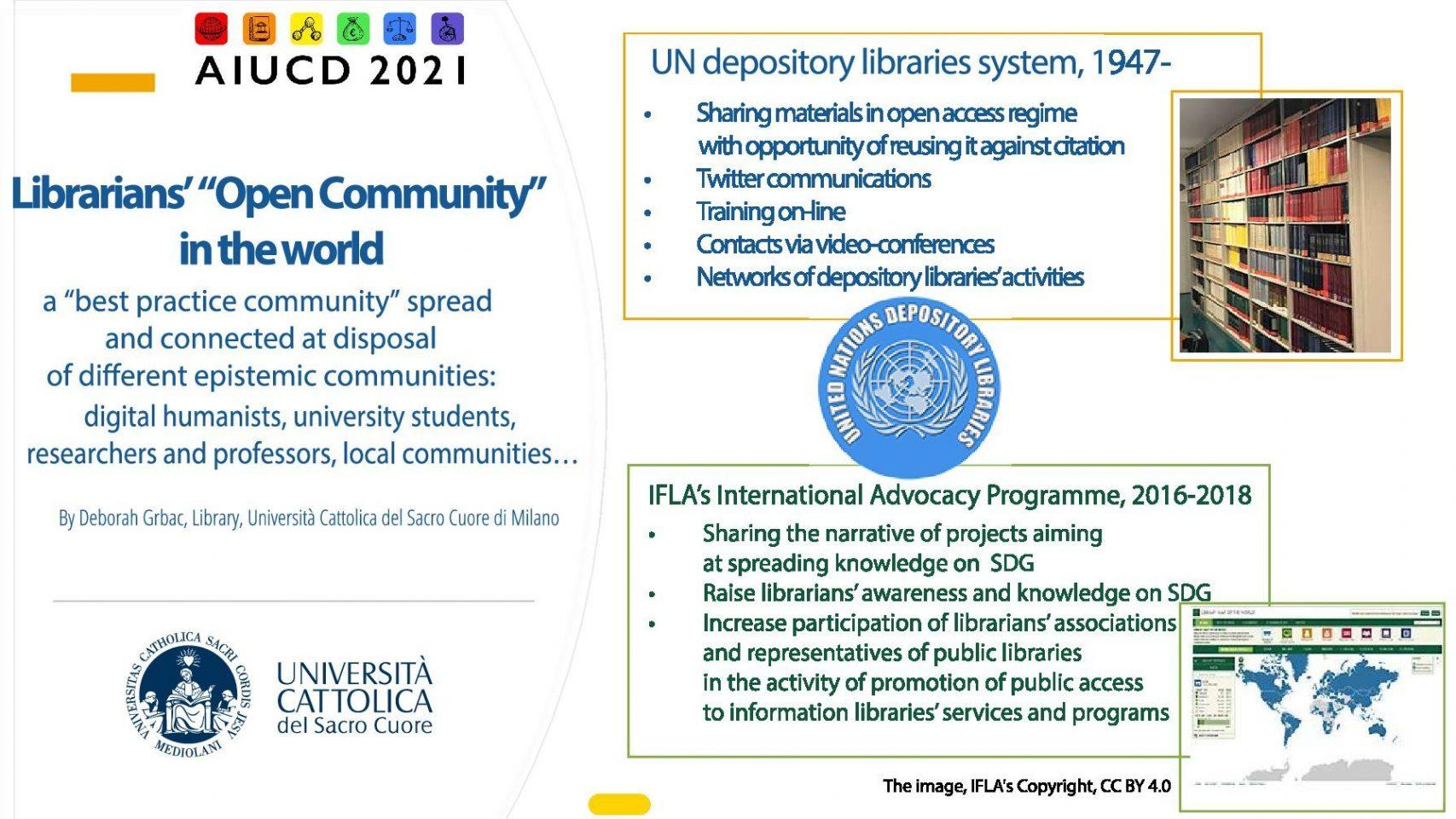 """Deborah Grbac - La rete delle Biblioteche depositarie delle Nazioni Unite e la sua evoluzione in """"Open Community"""""""